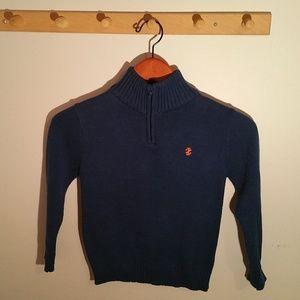 Izod Size 5 Solid Royal Blue Cotton Boys Sweater
